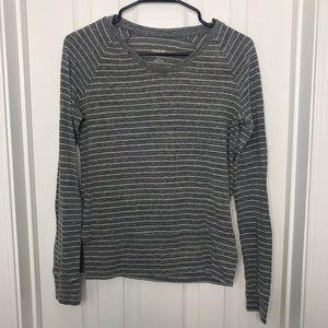 Target Gray Long Sleeve Striped Shirt Mossimo